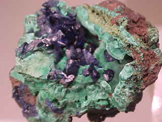 Azurite With Malachite - China